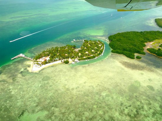 Key West Seaplanes: View from seaplane - Little Palm Island