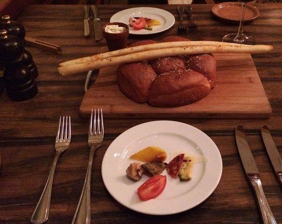 Armenia Marriott Hotel Yerevan: Complimentary Bread & Sample Appetizers at La Cucina Restaurant - Yerevan Marriott Hotel