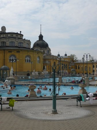Széchenyi Baths and Pool : View of outside pools