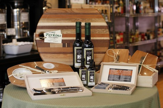Temptations from Lake Placid Gourmet: Sole purveyor of local artisan Marty Perkins cutting boards