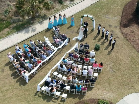 Springmaid Oceanfront Resort Myrtle Beach: Wedding site, in front of conference/ballrooms