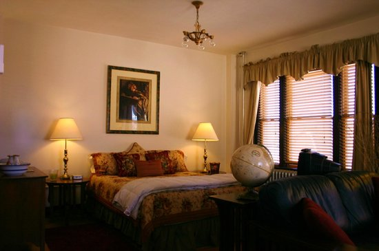 Murray Hotel: This queen suite has a lovily view of the Crazy Mountains.