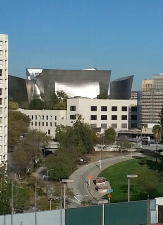 The L.A. Hotel Downtown: Disney Concert Hall glistens a few blocks away.