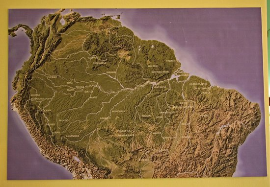 Museum of Indigenous Amazonian Cultures : Location of tribes