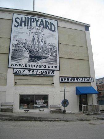 Shipyard Brewing Company : The exterior of Shipyard!