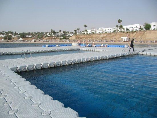 Domina Hotel & Resort Harem: 2 естественных бассейна на понтоне центрального пляжа