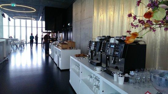 nhow Rotterdam: Waking up to a wonderfull buffet + views