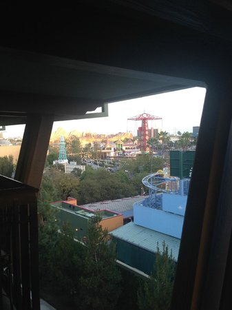 Disney's Grand Californian Hotel & Spa: View of California Adventure from 5260, day