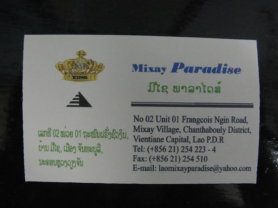 Mixay Paradise: hotel card