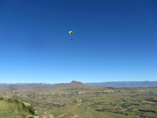 Mafube Mountain Retreat: Flying above Surrender Hill