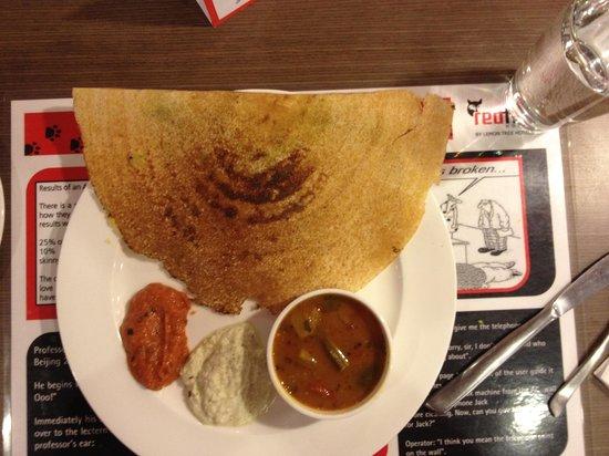 Red Fox Hotel, Delhi Airport: Dosa on request