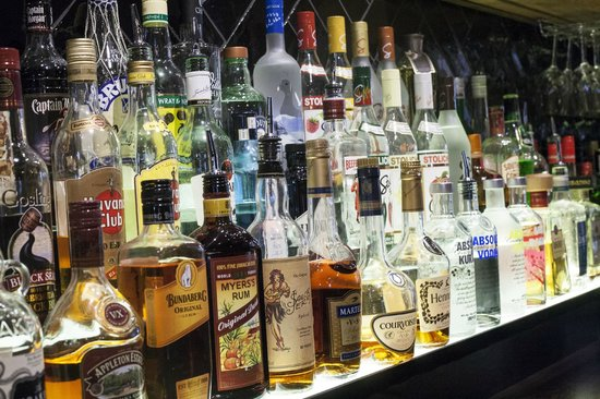 The Cork: Great back bar selection