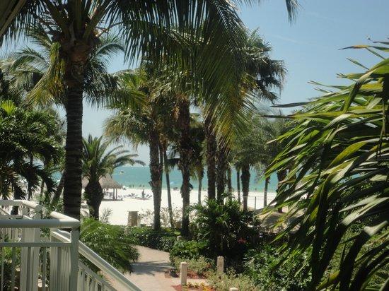 JW Marriott Marco Island Beach Resort: View of beach from lanai
