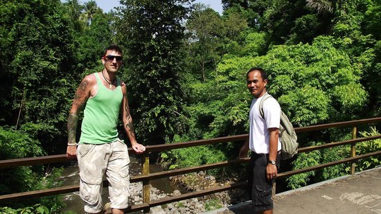 Mayong Village Tracking Experience: putu and Andy on near the beginning of our walk