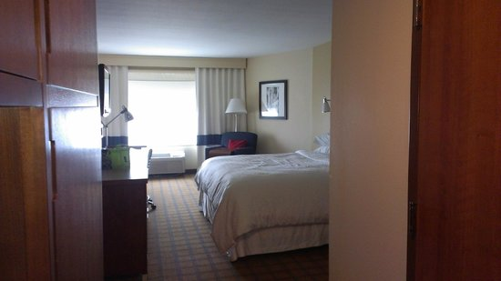 Inside Room King Size Bed Picture Of Four Points By Sheraton Galveston Tripadvisor