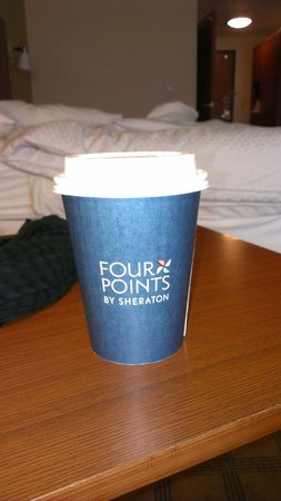 Four Points By Sheraton Galveston: complimentary coffee served every morning in hotel lobby