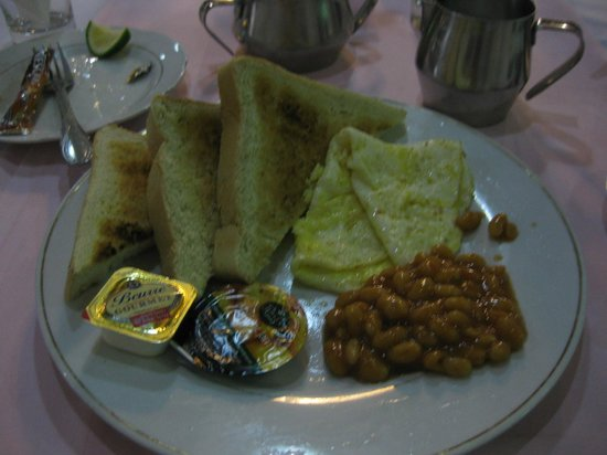 SSNIT Guest House : Their breakfast menu