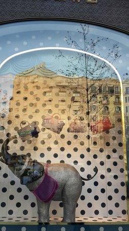 Passeig de Gràcia : Creatividad en sus vidrieras