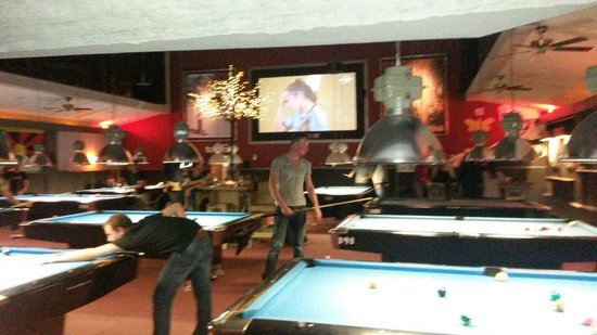 Plan B: best place for a game of pool in Amsterdam. Big beer and whiskey selection and the big soccer ma