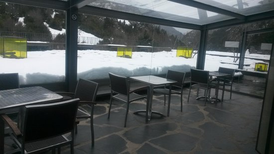 Hotel Santa Cristina: Terraza