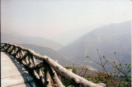 "Bara Mangwa Farmhouse: View of  Teeta  deep down from ""Balcony "" of farm house"