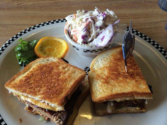 Black Bear Diner : BBQ Meatloaf Sandwich