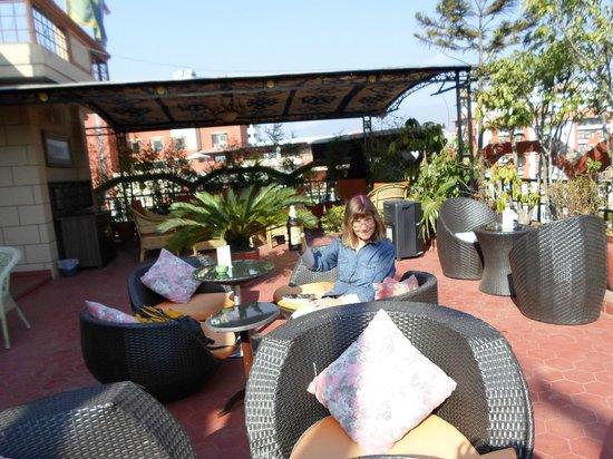 Hotel Tibet: Rooftop bar