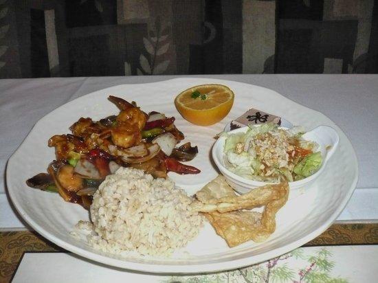 Chin's Seafood & Grill: Szechwan garlic shrimps