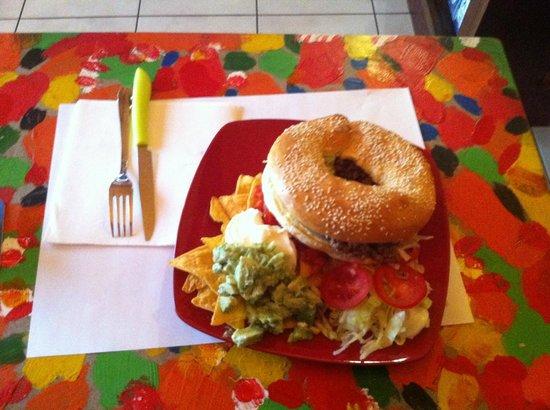 Irish Pub Sorengo : The Bagel Burger !