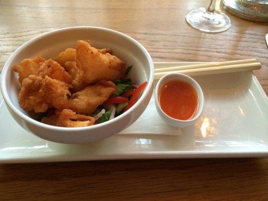Church Street: Monkfish tempura Asian salad with chilli dip