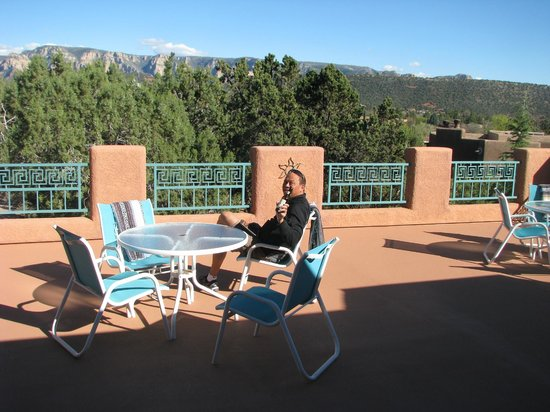 Casa Sedona Inn: a semi private balcony/patio for relaxing- lovely!