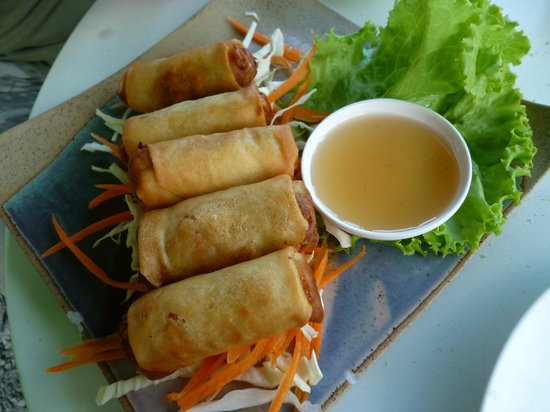 Stop at Sopa: Spring rolls with palm syrup