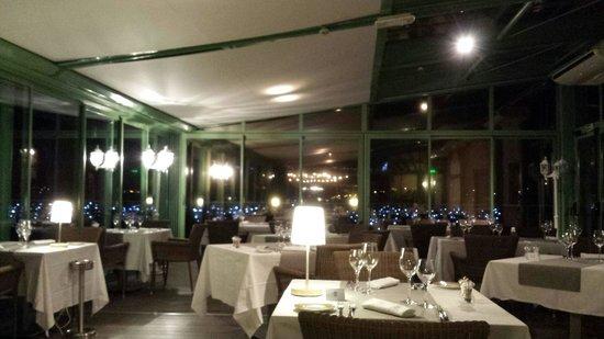 Domaine de Saint-Clair : La sala del ristorante.