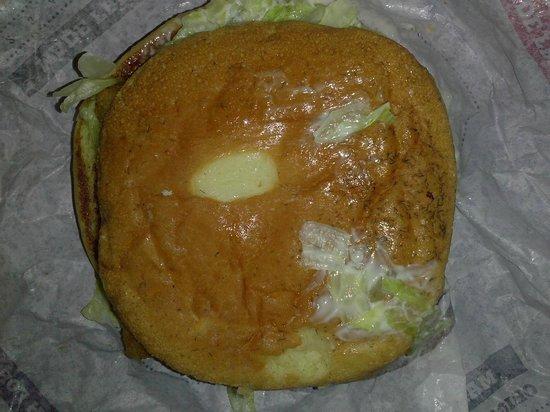 Burger King: Hair like shavings on bun