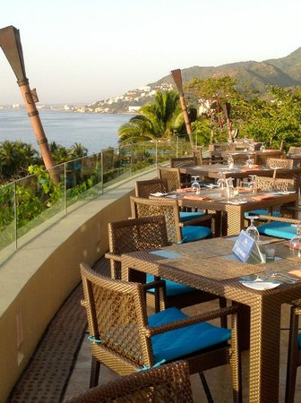 Garza Blanca Preserve, Resort & Spa: View from the Blanca Blue Restaurant at the resort.