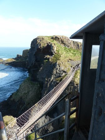 Carrick-A-Rede Rope Bridge: From the doorway leading to the bridge