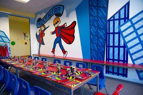 Superhero Party Room At Kids N Action Picture Of Kids N