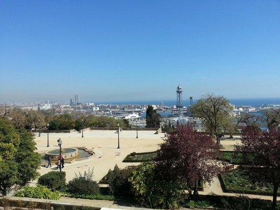 Hotel Miramar Barcelona: View from 3rd floor Premium Room