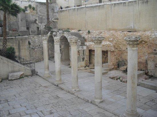 Barrio Judío (Cardo): Unicos restos de la Jerusalem romana