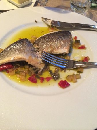 Le Petit Nicois: Sea bass...couldn't get a picture whole because I tore into it, completely cleaned my plate and
