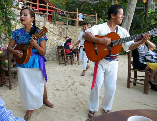 Rhythms of the Night by Vallarta Adventures: Being serenaded at our table