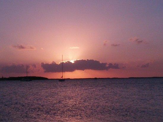 Bayside Inn Key Largo: Vue sur couché du soleil