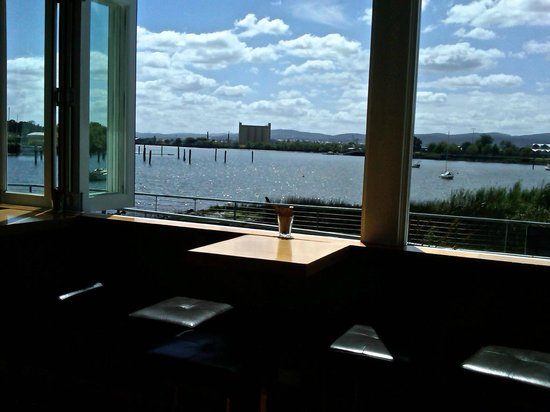 Stillwater: Looking out across the Tamar River from enclosed patio