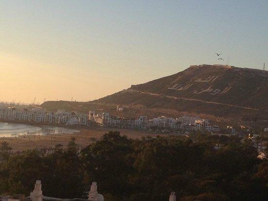 Beach Albatros Agadir : view of the hill