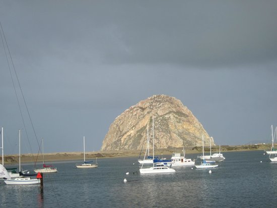 Estero Inn: Morro Rock and the Bay from our Small Lanai