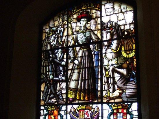 Alcazar de Segovia: Alcazar of Segovia - stained glass window