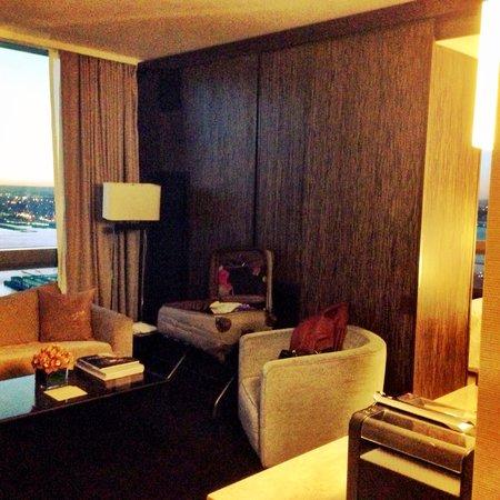 Trump SoHo New York: One bedroom executive suite living room floor41
