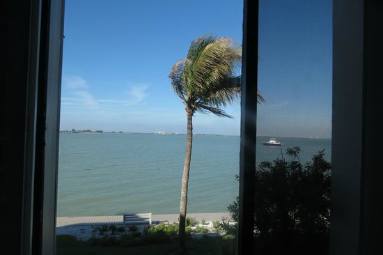 Mariner Pointe: View of San Carlos Bay from the room