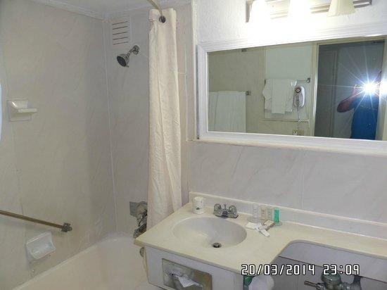 Miami Beach North Plaza Hotel: baño  prolijo