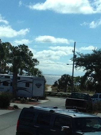 Carrabelle Beach, an RVC Outdoor Destination: Most sites hav a view of the Gulf.